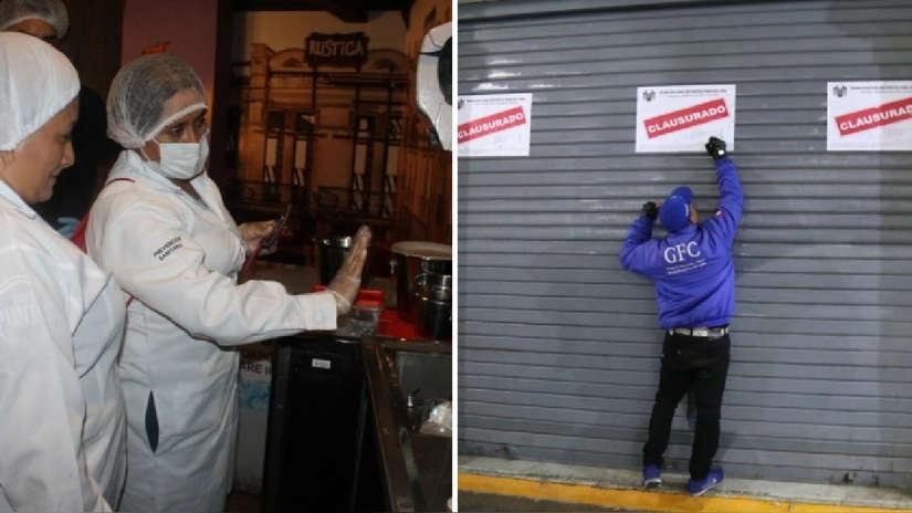 Municipalidad de Lima clausuró cuatro bares y restaurantes  en Plaza San Martín