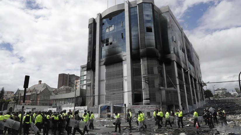 Crisis en Ecuador | Así amanecieron las calles de Quito tras violentas protestas contra el Gobierno [FOTOS]