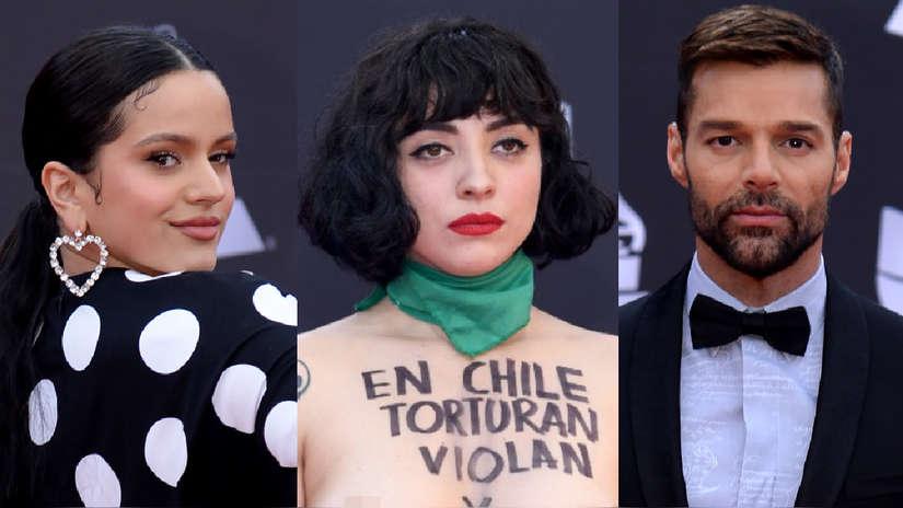 Mon Laferte, Rosalía, Ricky Martin y el paso de las estrellas por la alfombra roja de los Latin Grammy 2019