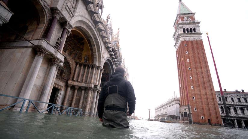 20 fotos de Venecia, la ciudad italiana paralizada por nueva marea alta que inunda calles y viviendas