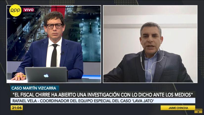 """Fiscal Rafael Vela: Estructura de cargos en la investigación del fiscal Elmer Chirre """"es bastante imprecisa"""""""