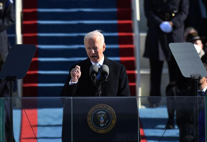Joe Biden tras jurar como presidente de los Estados Unidos:
