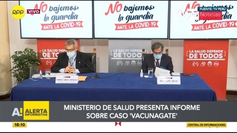 Comisión del Minsa presentará resultados de investigación del caso 'Vacunagate'
