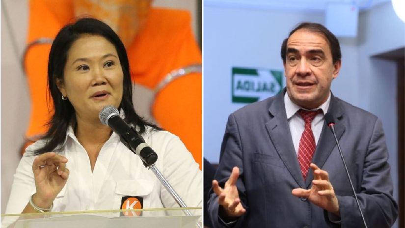 Keiko Fujimori y Yonhy Lescano se lanzan duros cuestionamientos en Foro Anticorrupción