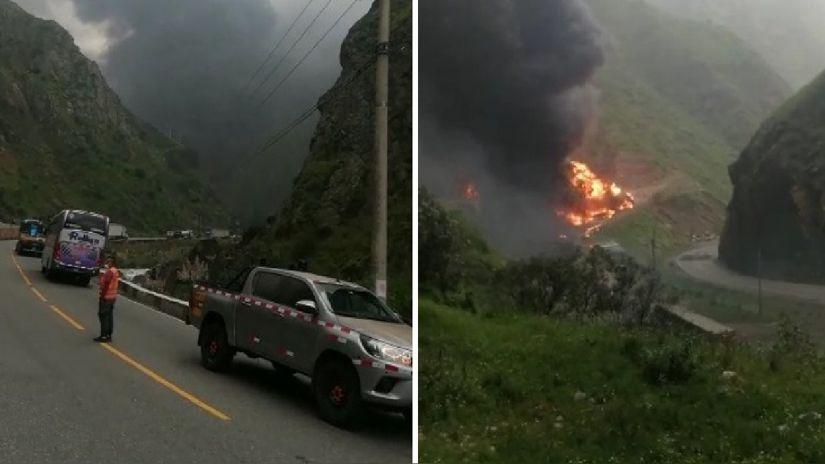 Carretera Central: MTC establece rutas alternas tras cierre de vía por explosión de camión cisterna | RPP Noticias