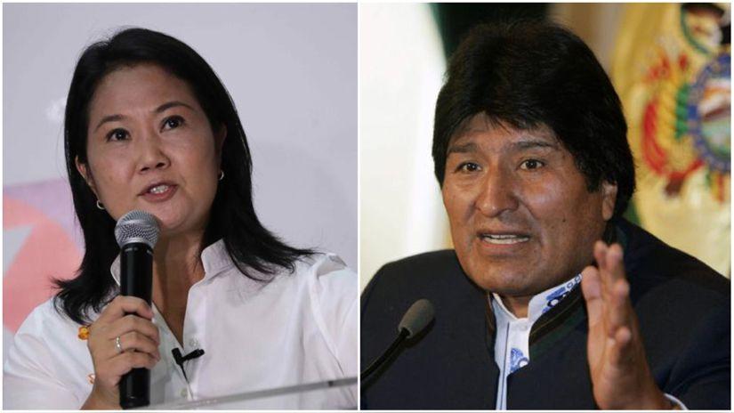 Keiko Fujimori rechaza las expresiones de Evo Morales: