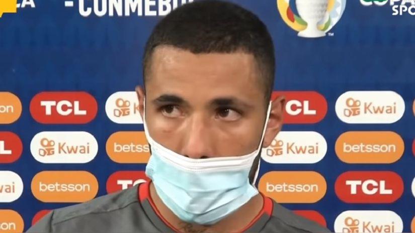 Sergio Peña rompió en llanto tras victoria ante Colombia: