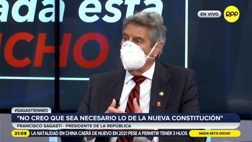 Francisco Sagasti sobre reunión con Pedro Castillo: Le dije que cambiar la Constitución sería divisivo