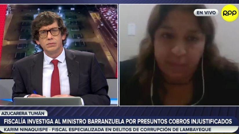 Karim Ninaquispe: Investigación a Luis Barranzuela es por presunto crimen organizado, lavado de activos y peculado doloso