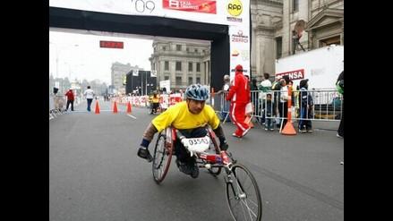 Elmer Cáceres ganó la Maratón de RPP en la categoría de discapacitados