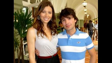 Bruno Pinasco con hermosa Jessica Biel