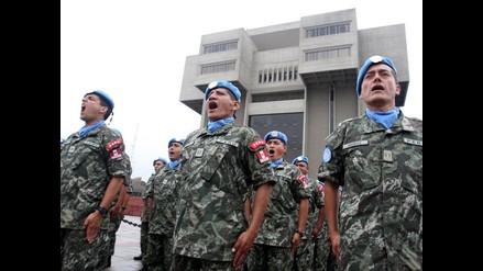 Perú envía nuevo contingente de 216 cascos azules a Haití