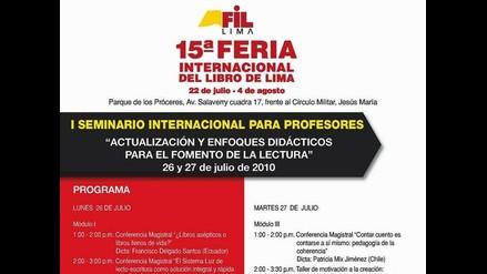 No se pierda los talleres en la Feria Internacional del Libro 2010
