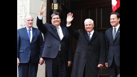 Alan García se reúne con presidente panameño Ricardo Martinelli