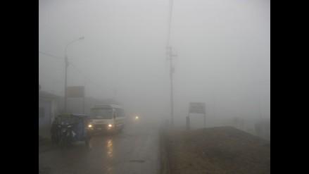 Cierran tramo de la Carretera Central por niebla y nieve