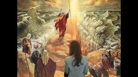 Viento partió aguas del mar en el Éxodo de Moisés