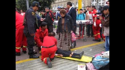 Conductor ebrio arrolla a tres mujeres en Cajamarca