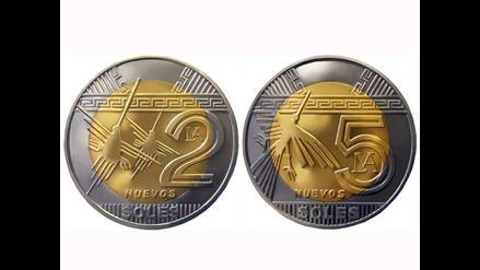 De lujo: Nuevas monedas de dos y cinco nuevos Soles