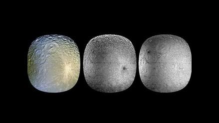 Las tres caras de Rea, luna de Saturno