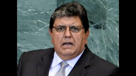 Alan García niega presión hacia Chile por salida al mar de Bolivia