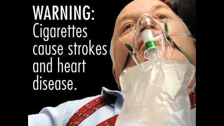 Crudas imágenes: EEUU le declara la guerra al tabaquismo