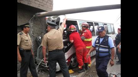 Dos heridos tras accidente de tránsito en la Avenida Arequipa