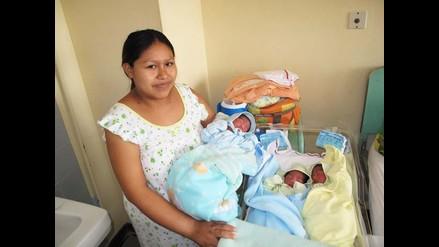 Nacen trillizos en Hospital Cayetano Heredia de Piura