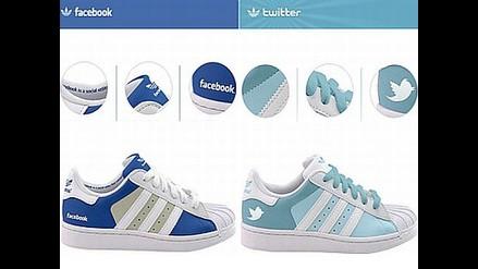 Adidas lanza zapatillas de Facebook y Twitter
