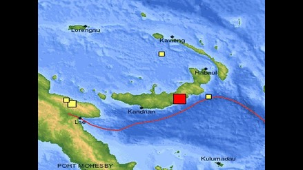 Terremoto de 6.9 grados sacude costa este de Papúa Nueva Guinea