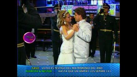 Florcita y Néstor festejaron con todo su matrimonio en Los Olivos
