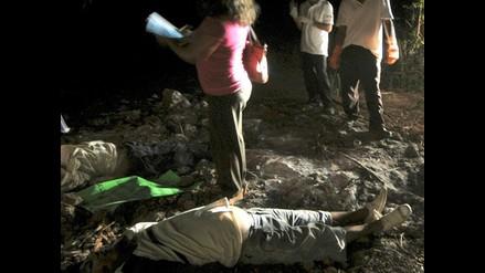 Sicarios matan a cinco personas e incendian camiones en varios ataques