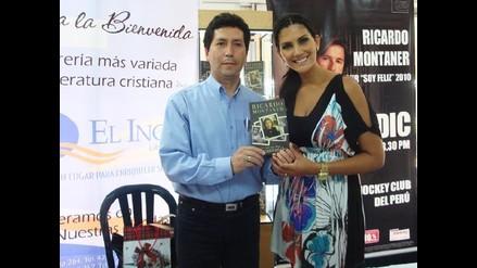 Cati Caballero presentó libro de Ricardo Montaner