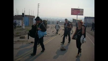 Ancash: Bloquean vías de acceso al centro poblado de Cascajal