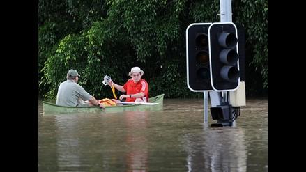 Brisbane lucha contra el torrente de agua que inunda Australia