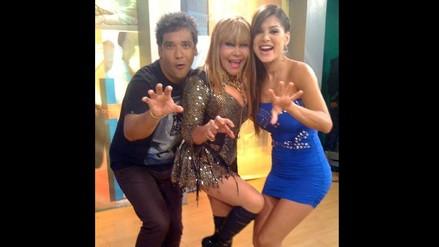 Vanessa Jerí impactó a televidentes con ceñido vestido azul