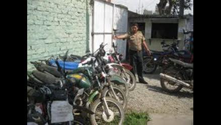 Huánuco: En operativo policial recuperan diez motos robadas