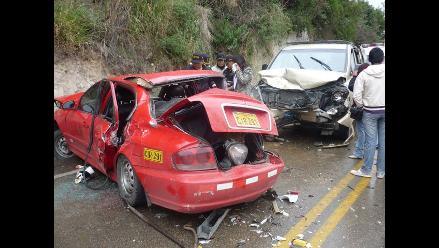 Junín: Tres muertos y dos heridos deja choque en Tarma