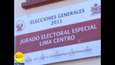 JEE Lima Centro admitió a cinco listas de candidatos al Parlamento