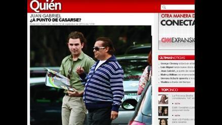 Novio de Juan Gabriel muestra anillo de compromiso