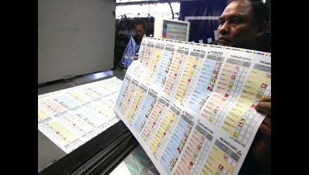 Realizan prueba de impresión de cédulas para Elecciones 2011