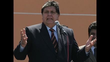 Presidente Alan García invoca a la población guardar la calma