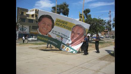 Áncash: Decomisan propaganda política de vía pública en Chimbote