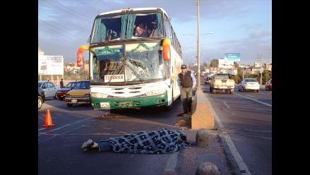 Un hombre murió atropellado por un bus interprovincial en Arequipa