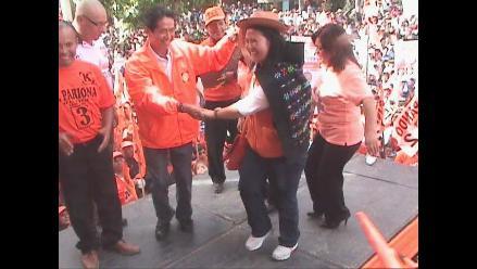 Keiko Fujimori ofrece en Huancayo apoyo a las rondas campesinas
