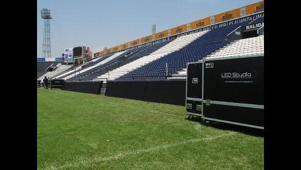 Césped del estadio Alejandro Villanueva quedó listo para el clásico