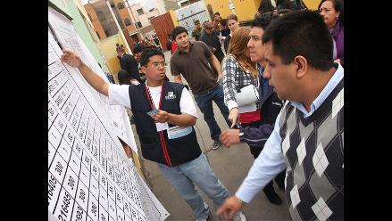 Tacna: Reubican once locales de votación por construcción de colegios