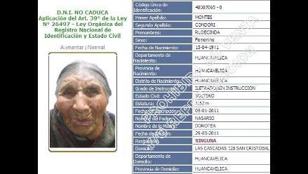 Increíble: Mujer recibe su primer DNI a los 100 años