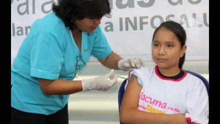 Áncash: Vacunarán a 11 mil niñas contra el virus del papiloma humano