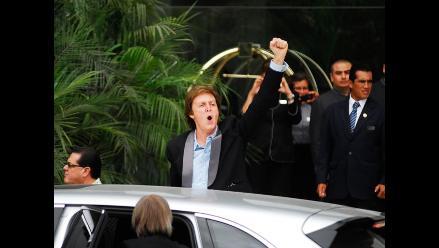 Paul McCartney salió de hotel miraflorino y realiza pruebas de sonido