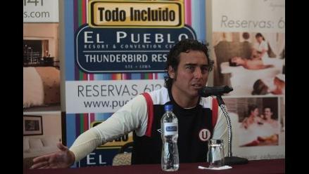 José del Solar molesto porque le anularon un gol a la ´U´ en Ayacucho